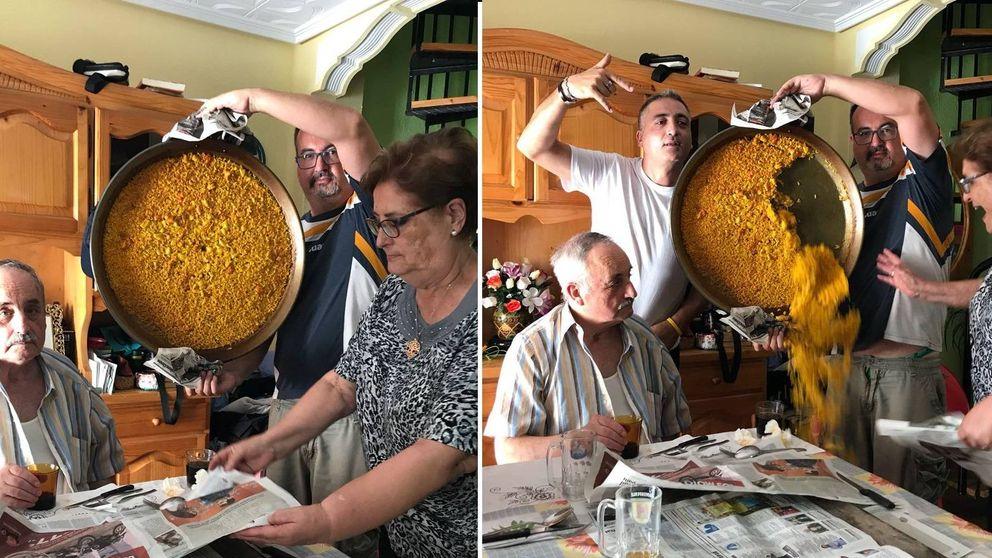 El hombre del glorioso meme de la paella: A mi padre le aplauden por el pueblo