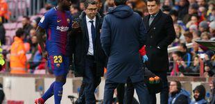 Post de Umtiti, dos meses de baja y adiós al Clásico del Santiago Bernabéu
