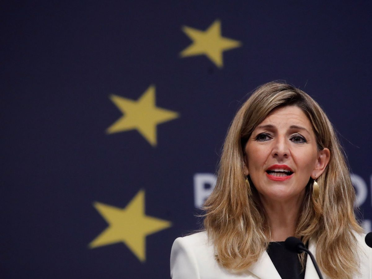 Foto: La vicepresidenta de Trabajo de España, Yolanda Díaz. (EFE)