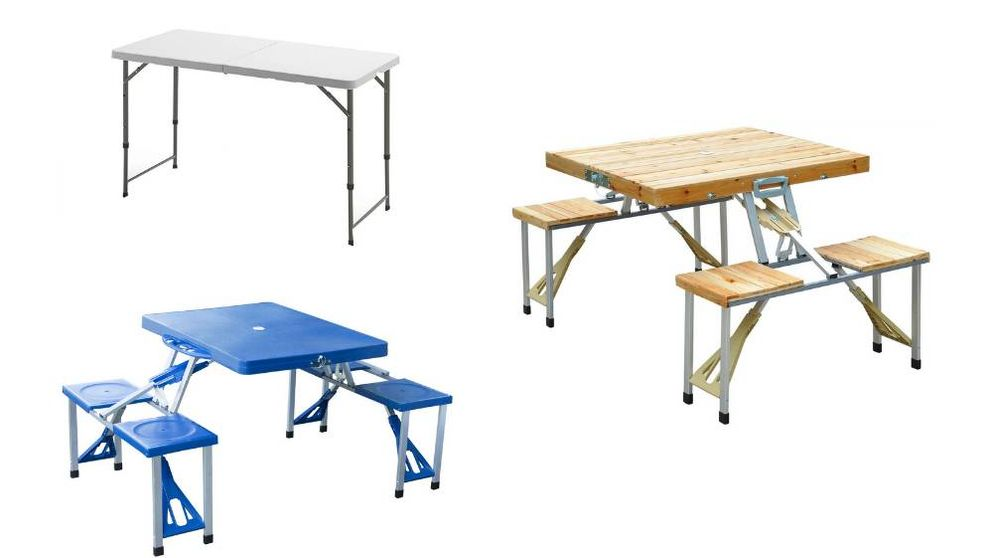 Las mejores mesas de 'camping' plegables para el jardín o la playa