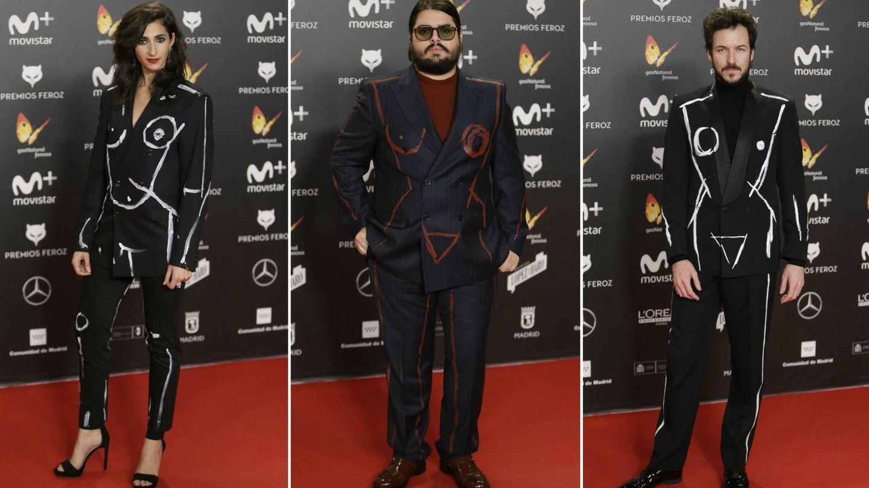 Alba Flores, Brays Efe y Jorque Suquet posan sobre la alfombra roja de los Premios Feroz. (Gtres)