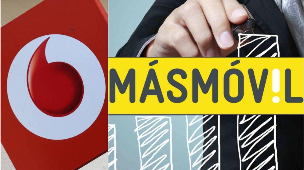 Foto: Logos de Vodafone y MásMóvil. (EC)
