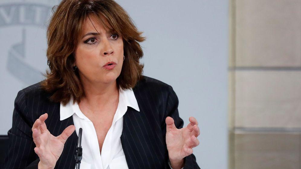 Foto: La ministra de Justicia, Dolores Delgado, en la rueda de prensa tras el Consejo de Ministros. (EFE)