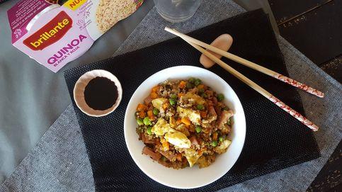 Quinoa frita tres delicias: una saludable vuelta de tuerca al menú chino