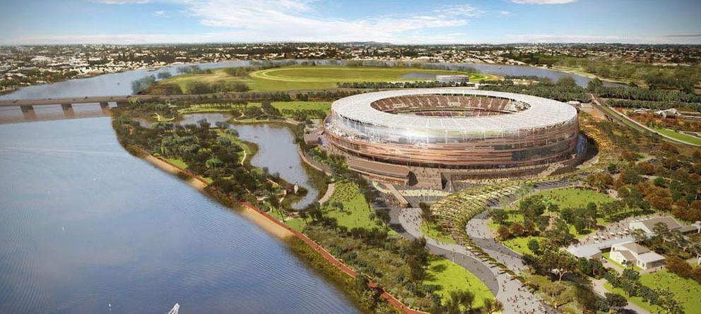 Foto: Nuevo estadio en Perth (Australia)