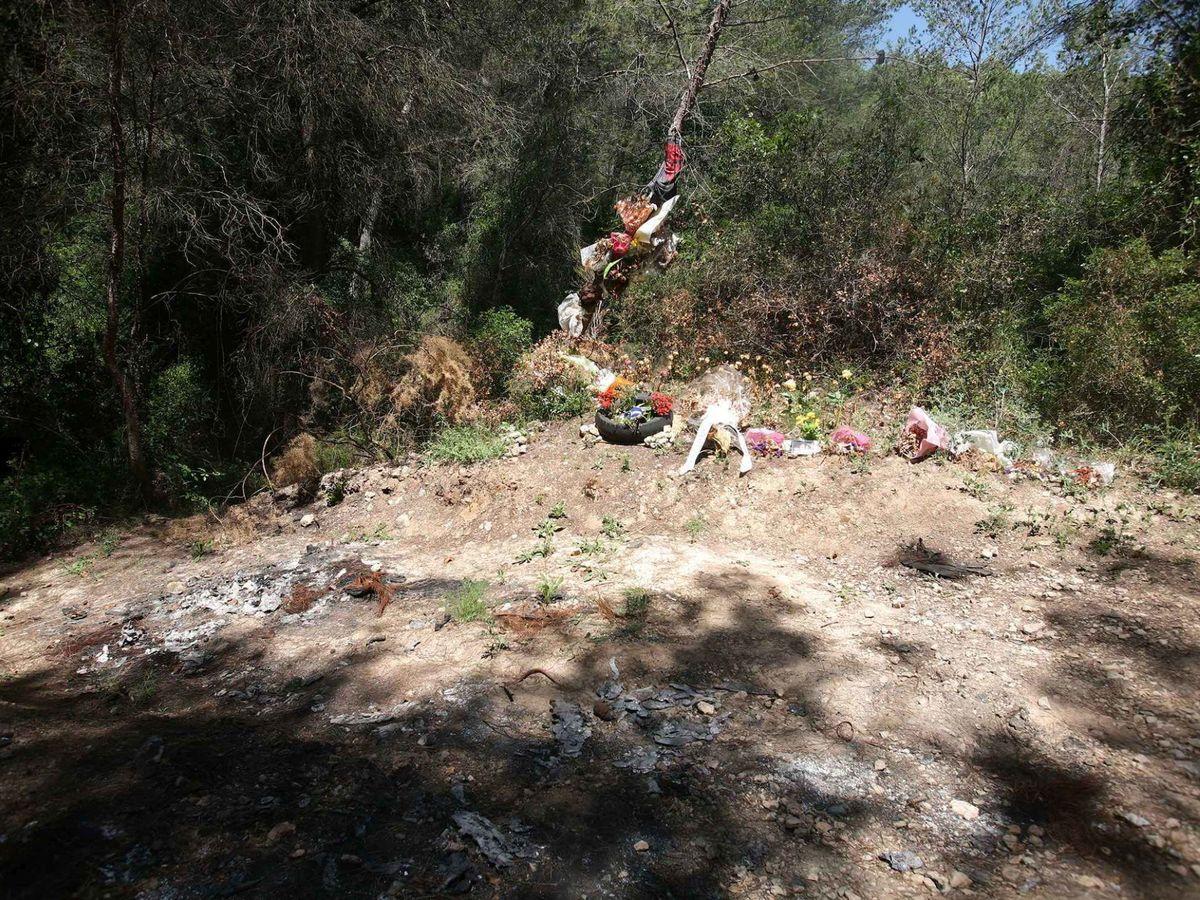 Foto: Lugar en el que hallaron el cuerpo del agente de la Guardia Urbana en un camino del pantano de Foix. Foto: Efe