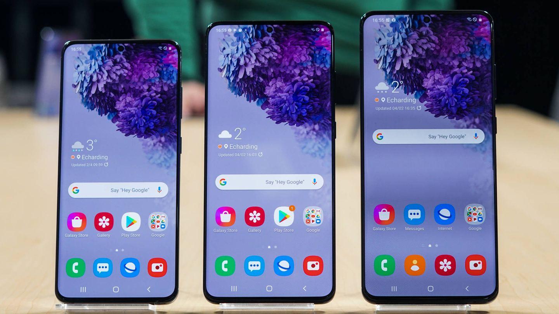 La familia Samsung Galaxy S20, al completo. (M. Mcloughlin)