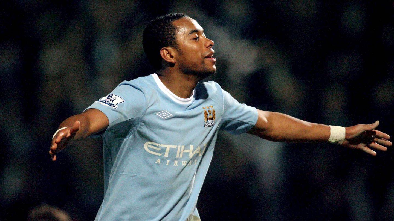 Robinho, la primera estrella del Manchester City. (EFE)