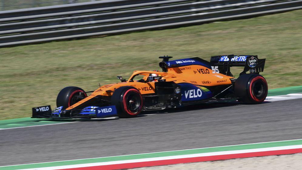 Foto: Sainz logró entrar en el Q3 -noveno- cuando nada apuntaba a ello tras las sesiones libres. (EFE)