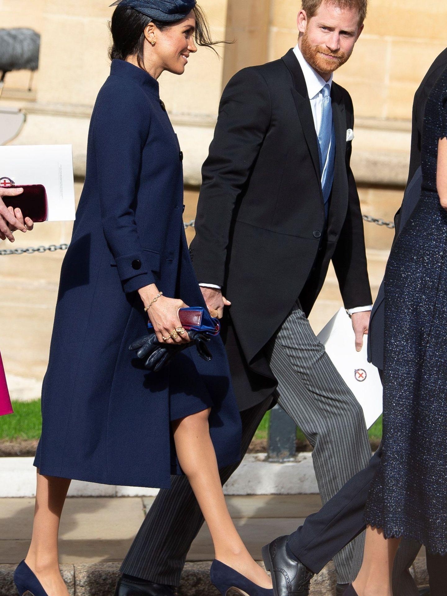 Meghan Markle, con el comentado abrigo de Givenchy. (EFE)