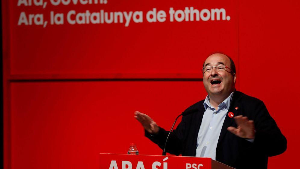 Foto: Iceta, el el inicio de la pasada campaña electoral. (EFE)