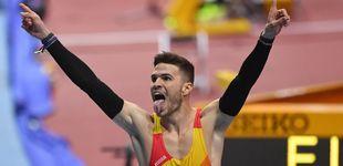 Post de Óscar Husillos, descalificado después de haber sido campeón del mundo de 400