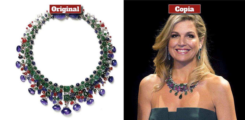 Foto: El collar original de Cartier y la copia de la reina Máxima (Vanitatis)