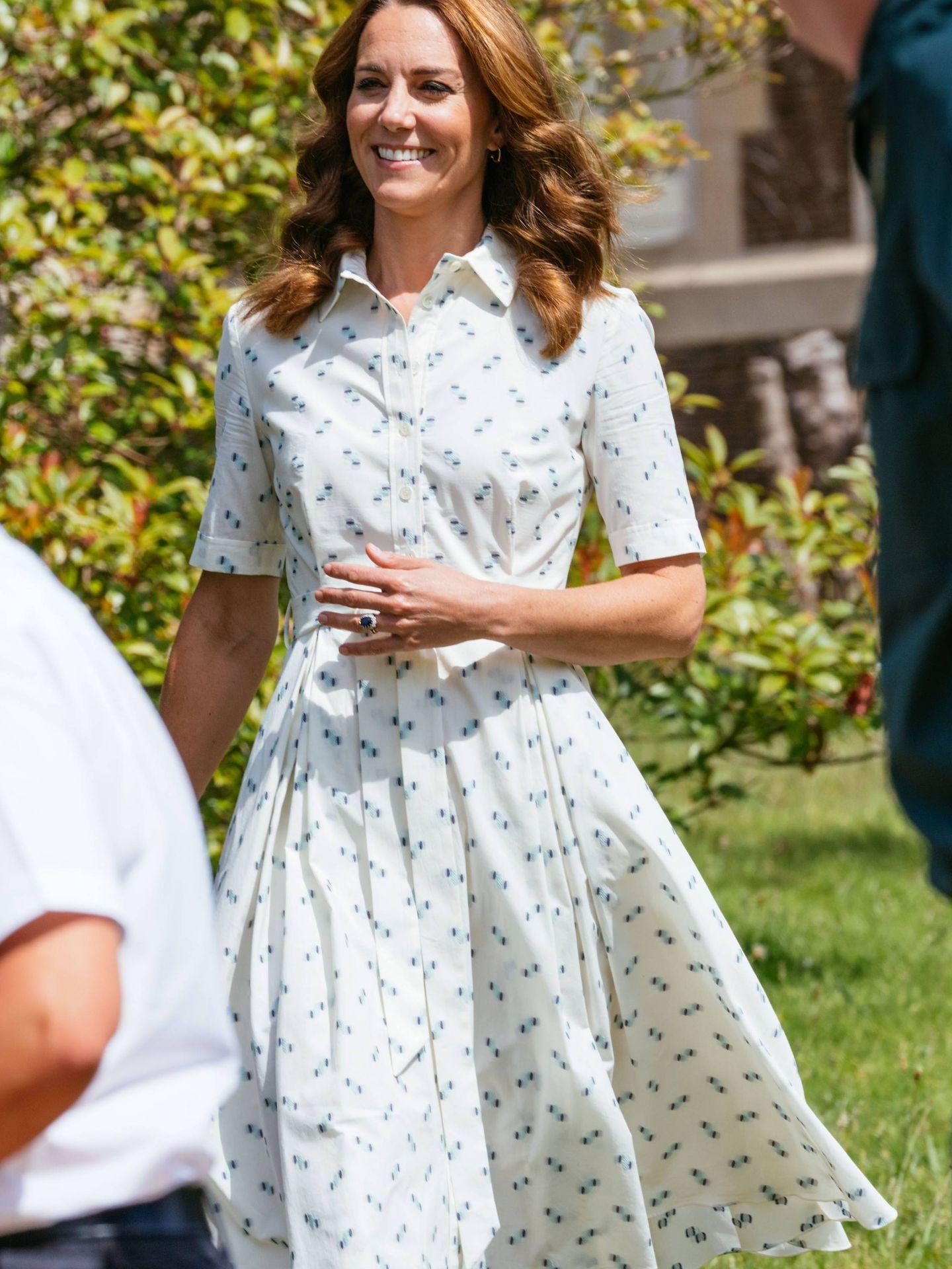 El nuevo vestido de Kate Middleton. (Cordon Press)