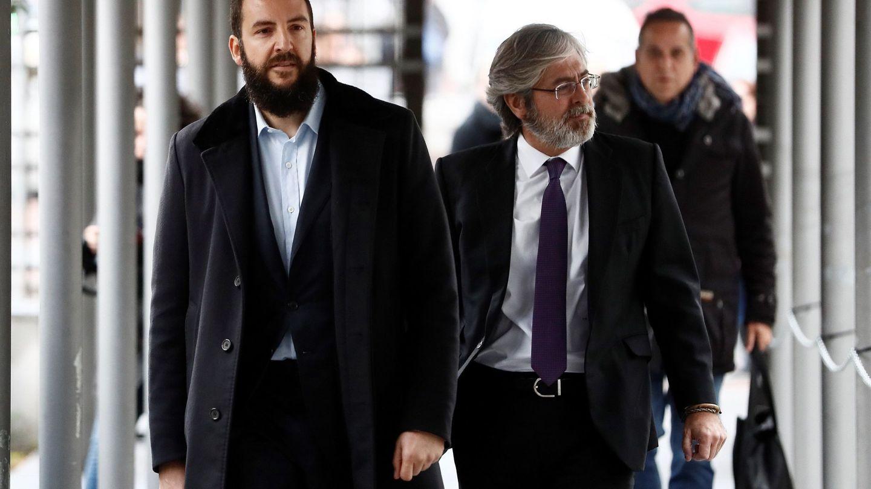Borja Thyssen, a su llegada al juzgado. (EFE)