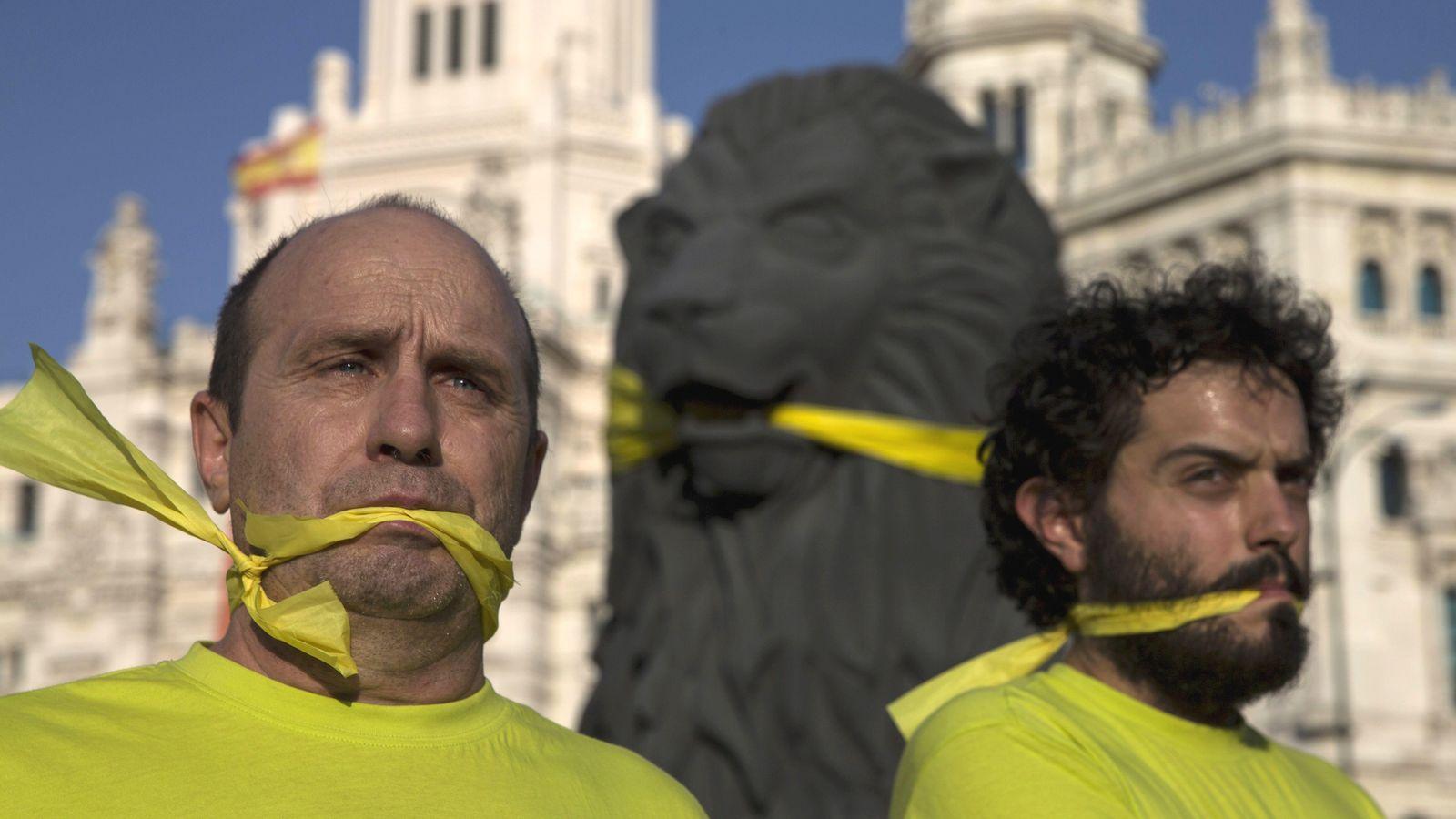 Foto: Manifestación en Madrid este verano contra la Ley Mordaza. (Reuters)
