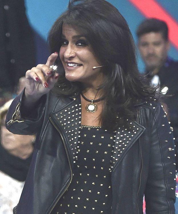Foto: Aida Nízar en el plató de 'GH VIP 5'. (Gtres)