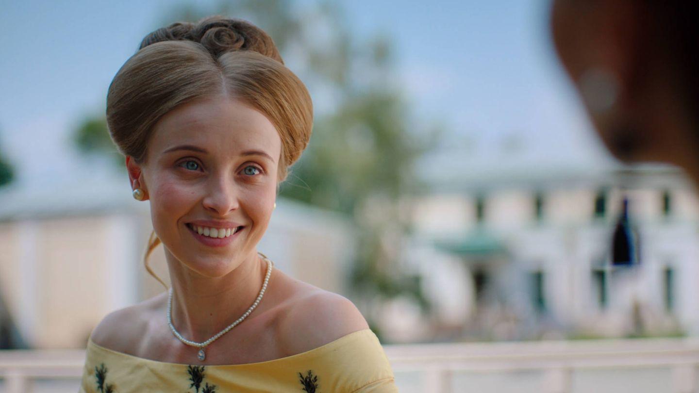 La actriz Katerina Kovalchyk en 'Encadenada'. (Mediaset)