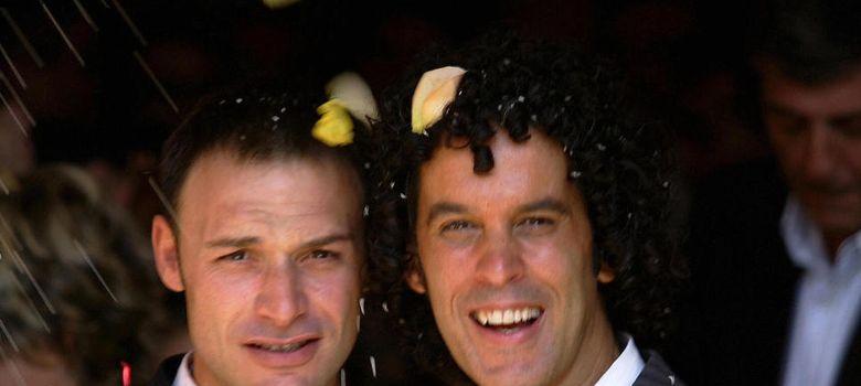 Foto: Jesús Santos y Pedro Zerolo el día de su boda