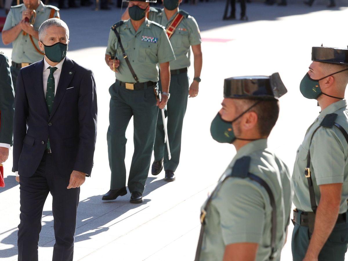 Foto: El ministro Fernando Grande-Marlaska, en la toma de posesión del director adjunto operativo de la Guardia Civil el pasado 29 de junio. (EFE)