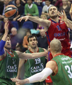 CSKA pasa por encima del Caja Laboral y lo deja al borde de la eliminación
