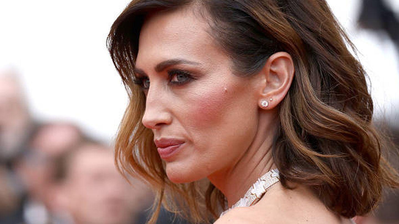 Detalle del maquillaje de Nieves Álvarez. (Getty)
