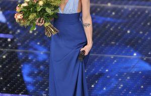 La cantante Conchita Wurst estrena 'look' en el Festival de la Canción de San Remo