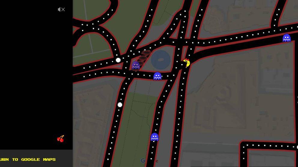 Cómete tu ciudad con PacMan: Google Maps estrena el 'comecocos' en su aplicación