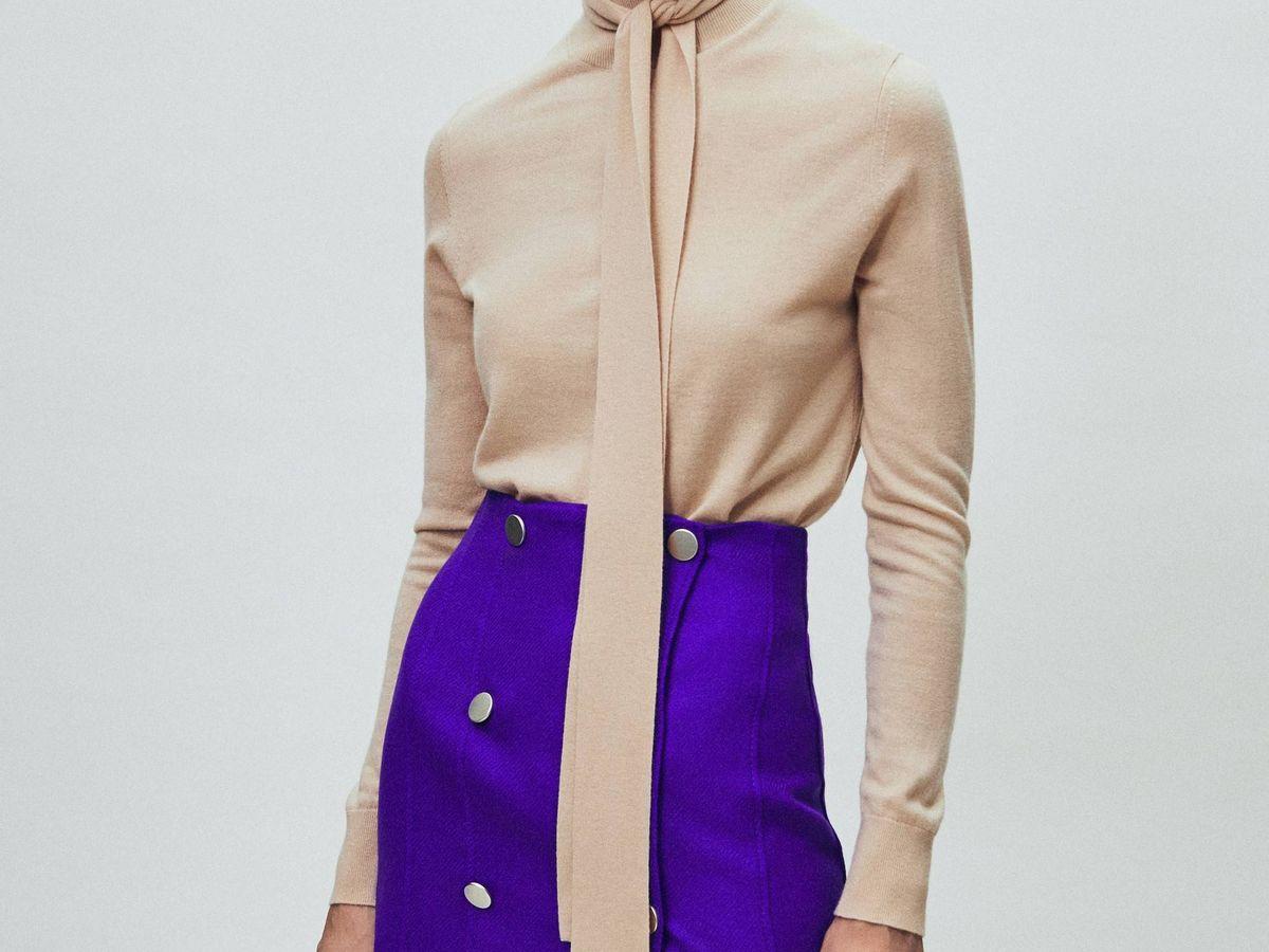Foto: Presume de tipazo con esta falda mini de Massimo Dutti. (Cortesía)