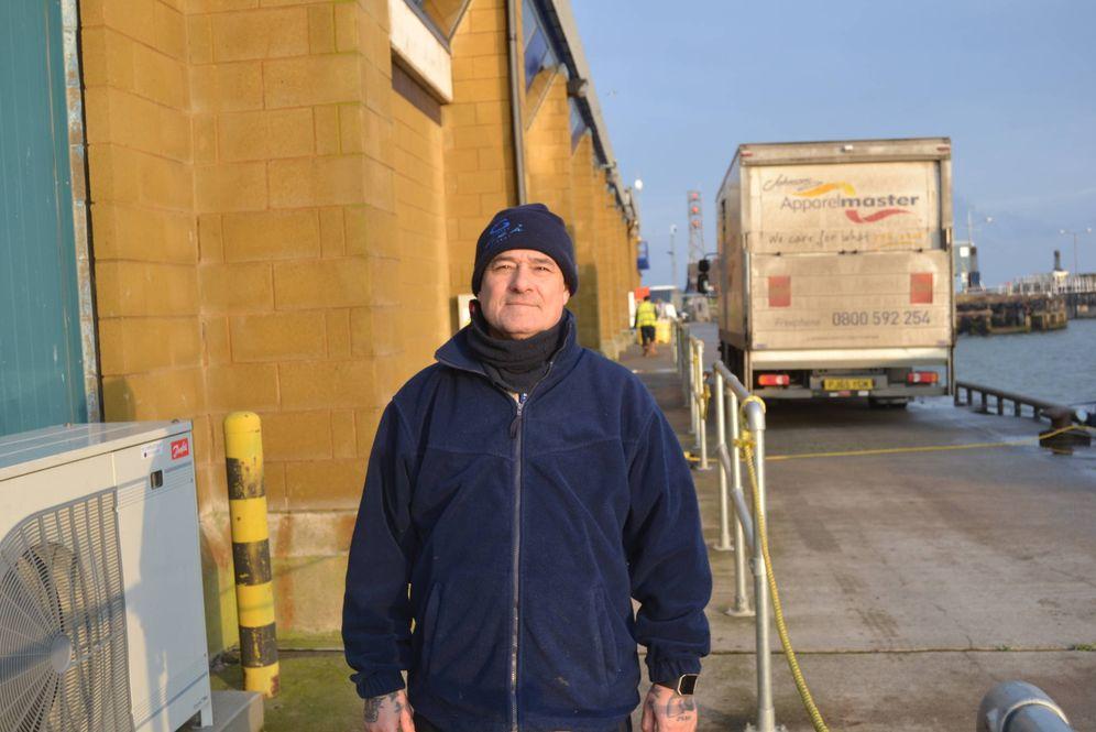 Foto: Paul Chestow, pescador retirado de Grimsby. (Foto: Katharina Jahn)