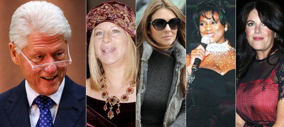 Foto: Bill Clinton, Bárbara Streisand, Elisabeth Hurley, Lencola Sullivand y Monica Lewinsky (Gtres)