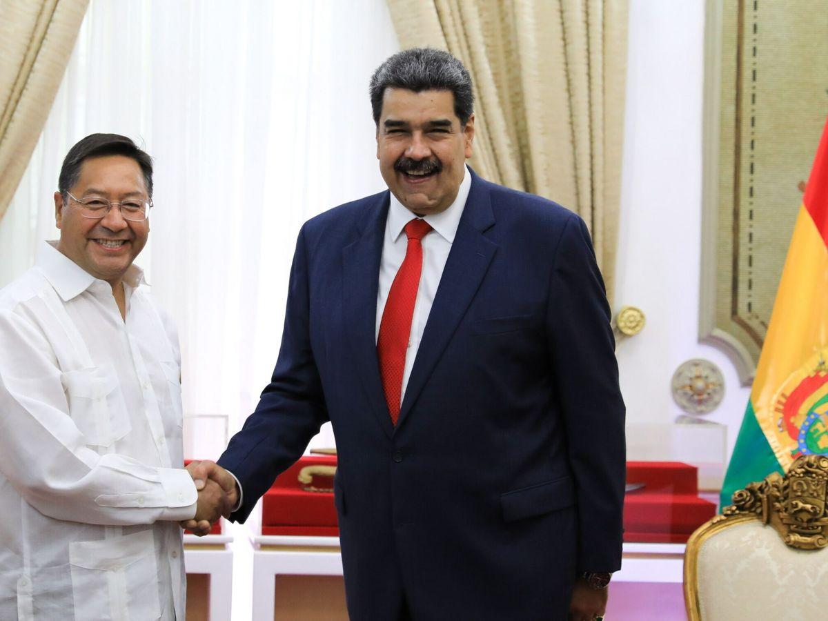 Foto: Nicolás Maduro con el presidente de Bolivia, Luis Arce. (Reuters)