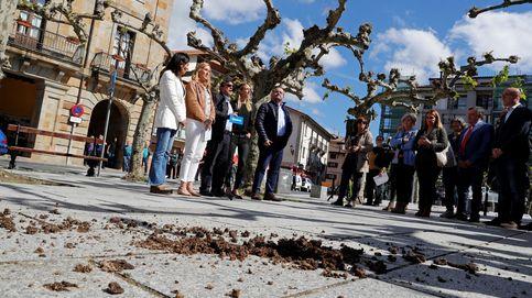 Estiércol, cacerolada y gritos de fascistas y asesinos contra el PP en su acto en Etxarri