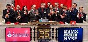 Foto: Santander México protagoniza el mejor gran debut en bolsa del año