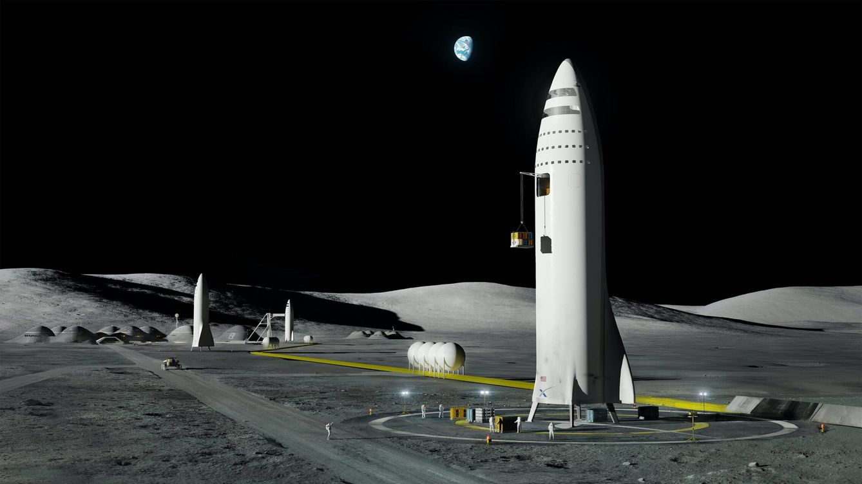 Foto: Un nuevo estudio podría hacer inviable el plan de Musk de usar sus Starship como base en Marte. (SpaceX)