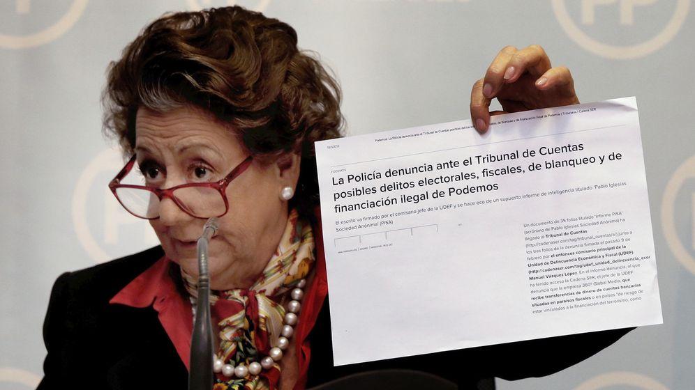 Foto: Rita Barberá, durante la rueda de prensa. (EFE)