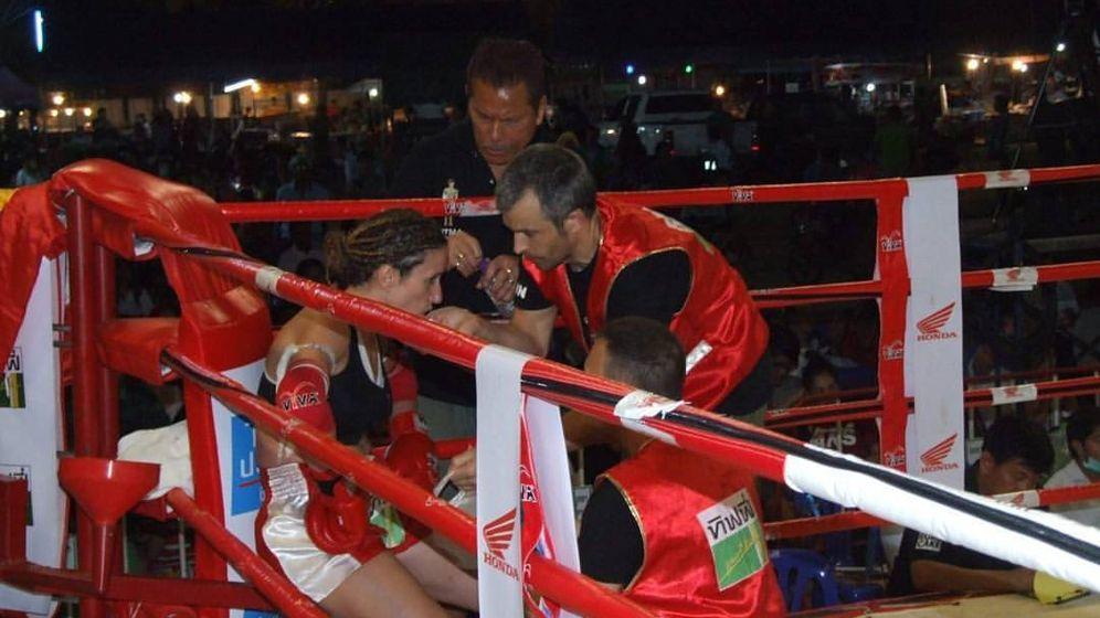Foto: Yohanna Alonso, campeona del mundo de muay thai