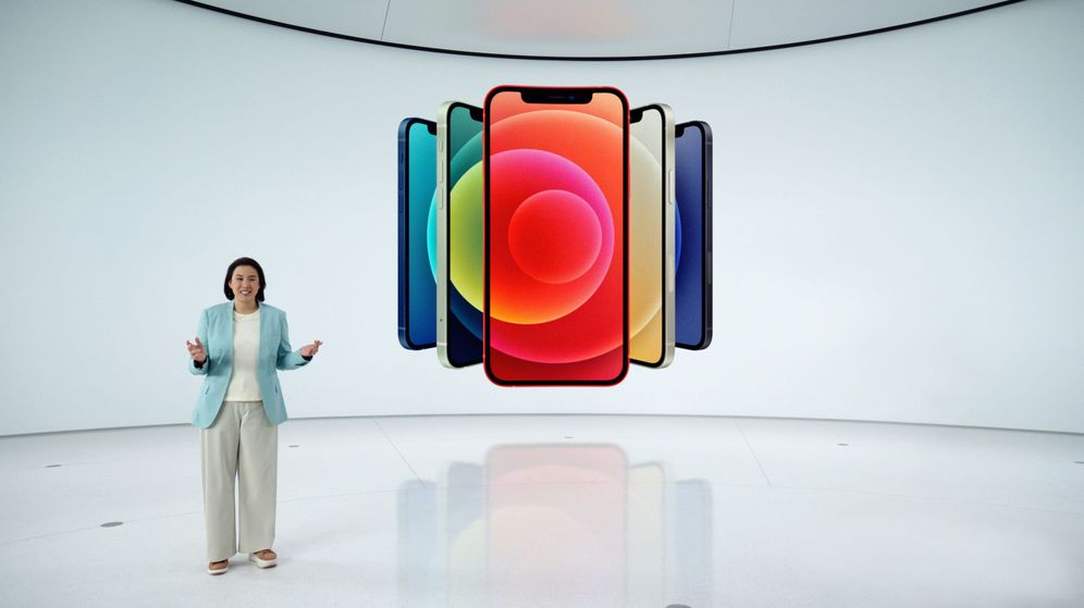 Foto: Presentación del nuevo iPhone 12 de Apple. (Reuters)
