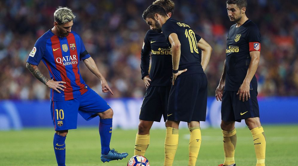 Foto: Imagen del Barcelona-Atletico de Madrid de la primera vuelta de la Liga (EFE)
