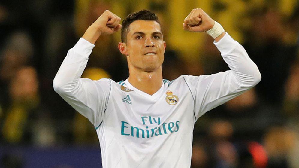 Foto: Cristiano Ronaldo, celebrando uno de sus tantos en Dortmund, este martes. (Reuters)