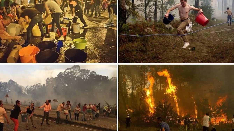 """""""El pueblo salvando al pueblo"""": así ayudan en los incendios los vecinos de Galicia"""