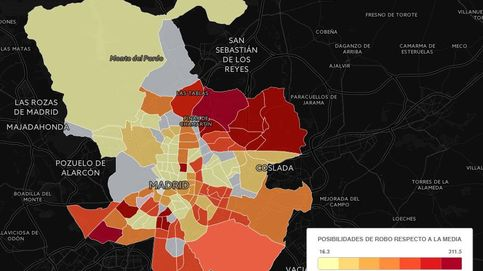 ¿En qué barrios de Madrid se cometen más robos en viviendas?
