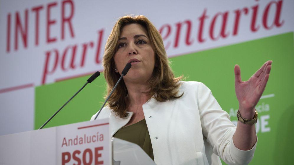 Foto: La presidenta de la Andalucía, Susana Díaz, en la reunión de la Interparlamentaria del PSOE, el pasado día 18. (EFE)