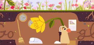 Post de El equinoccio de primavera llega a Google: el 'doodle' del adiós al invierno