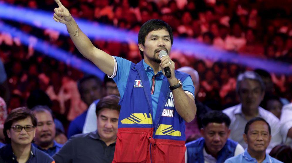 Foto: Manny Pacquiao, en el momento de sus declaraciones homófobas (Reuters).
