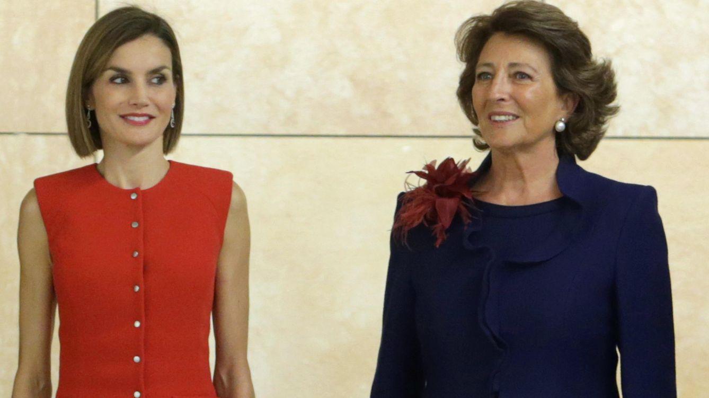 Foto: La Reina durante el acto (Gtres)