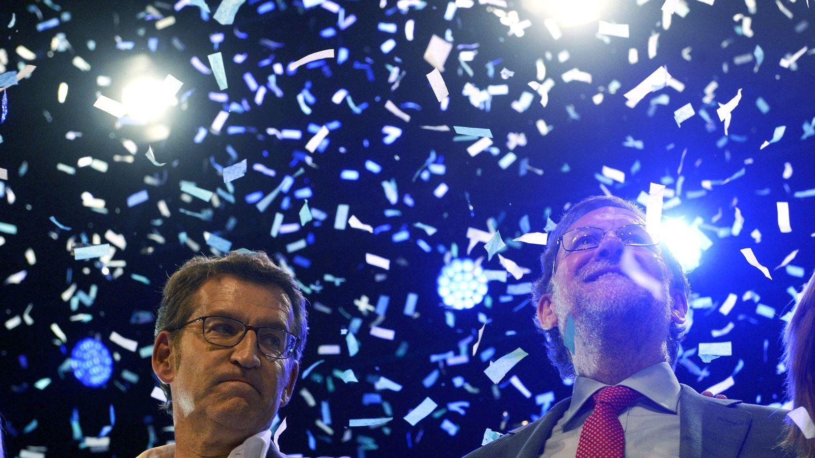 Foto: Alberto Núñez Feijóo y Mariano Rajoy. (EFE)