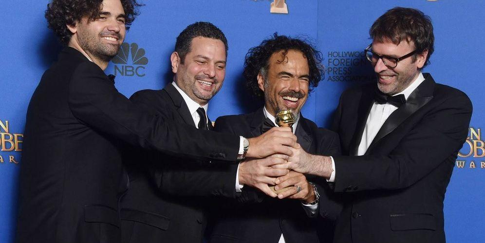 Foto: Nicolás Giacobone con su Oscar por 'Birdman'