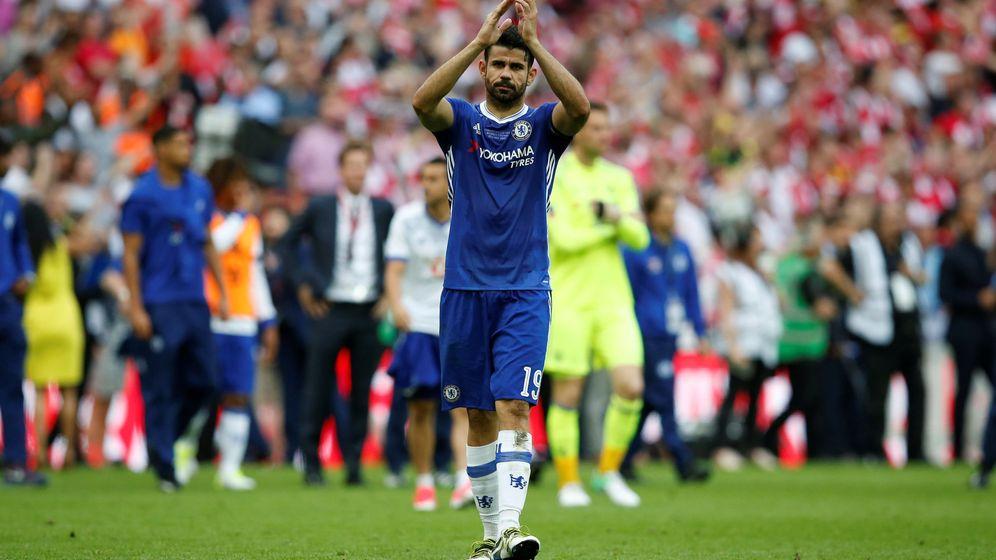 Foto: Diego Costa tras la final perdida de la FA Cup ante el Arsenal. (Reuters)