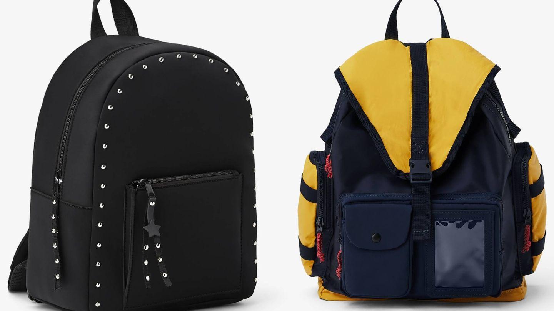 Las dos mochilas de Zara Kids rondan los 25 euros. (Cortesía)